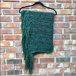 Kennebunk Weavers | Green Fringe Lap Blanket